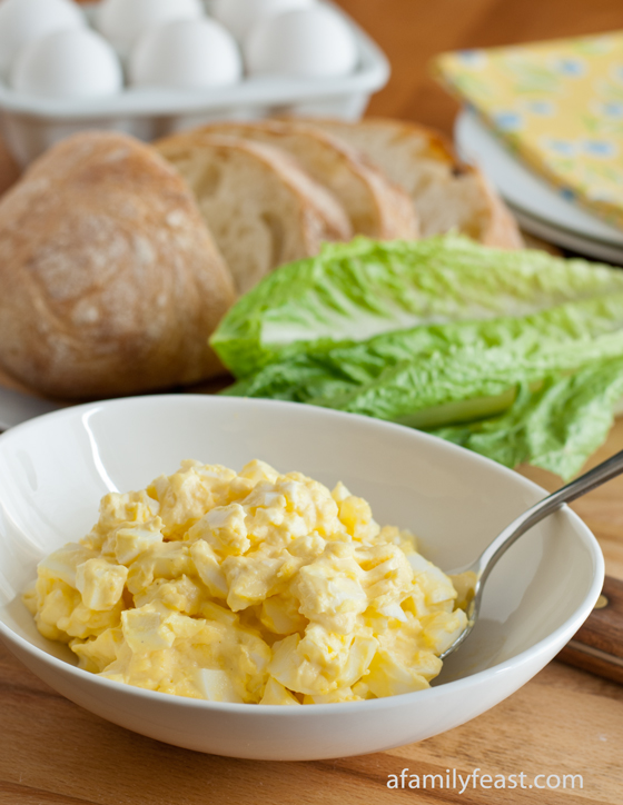 Classic Egg Salad - Simple ingredients are best with it comes to making a classic egg salad!  Pin this recipe now so you have it after Easter!