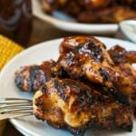 Bourbon Spice Barbecue Chicken Wings - A Family Feast