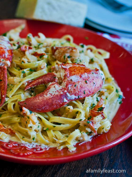 Lobster Zambuca Over Fettucini - A Family Feast