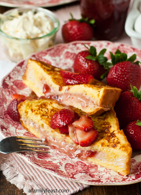 Mascarpone Strawberry Stuffed French Toast - A Family Feast