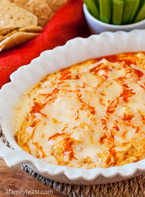 Buffalo Chicken Dip - A Family Feast