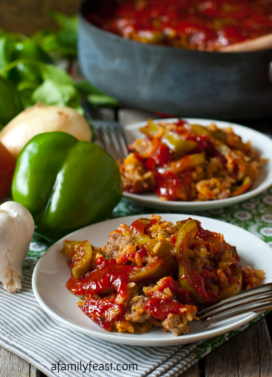 Deconstructed Stuffed Peppers - A Family Feast