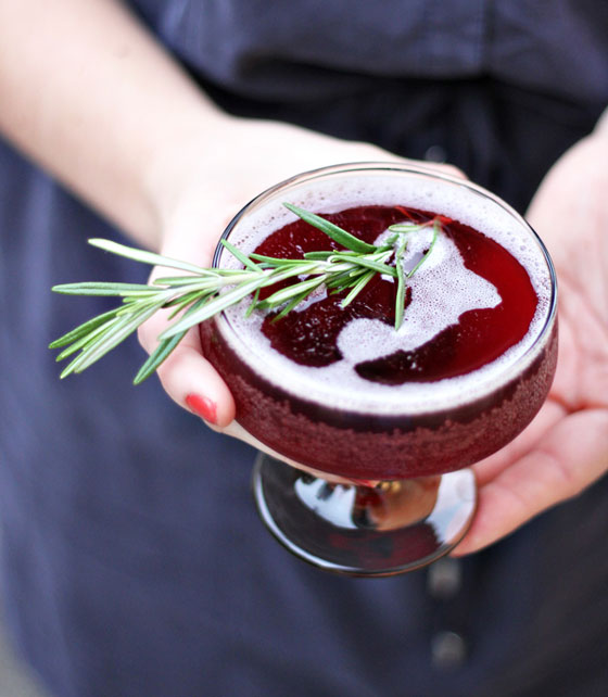 30+ Holiday Cocktails - Rosemary Infused Holiday Cocktail