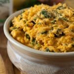 Mashed Sweet Potatoes with Kale and Boursin Cheese - A Family Feast