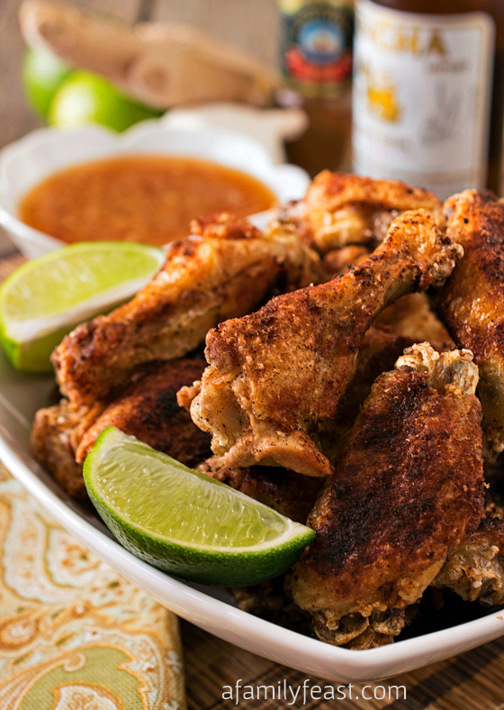 Crispy Asian Chicken Wings with Ginger-Lime Dipping Sauce recipe - The ...