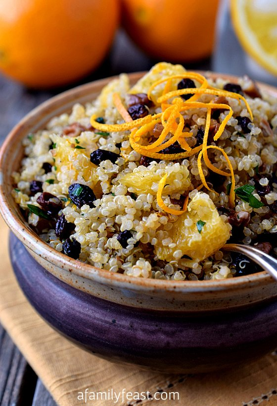 Quinoa Salad with Pecans, Orange and Currants - A Family Feast