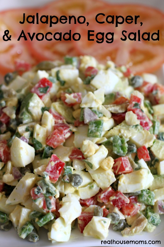 Jalapeno, Caper, and Avocado Egg Salad - 12 Eggs-cellent Egg Salad Recipes