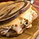 Southwestern Rachel Sandwich with Southwestern Slaw - A Family Feast