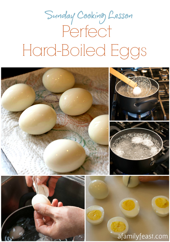 ... you a Sunday Cooking Lesson on making Perfect Hard-Boiled Eggs