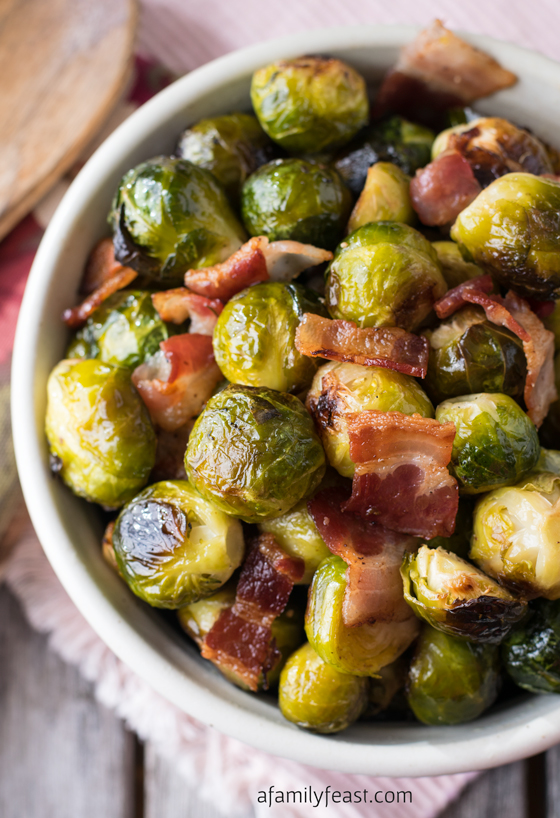 Olive Brussels Sprouts With Feta, Roasted Red Peppers And ...