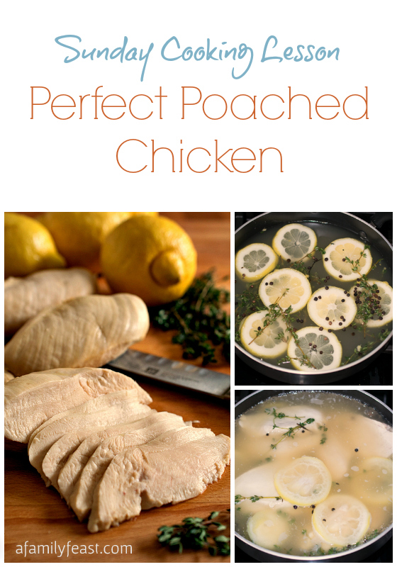re teaching you how to cook Perfect Poached Chicken! Poached chicken ...