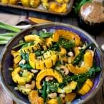 Asian Salad with Roasted Delicata Squash - A Family Feast