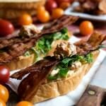 BLT Crostini with Boursin Cheese - A Family Feast
