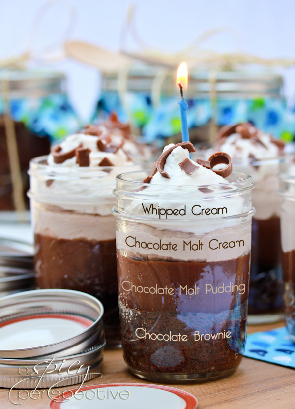 Chocolate Malt Brownie Parfaits in A Jar - 30+ Recipes for Malted Milk ...