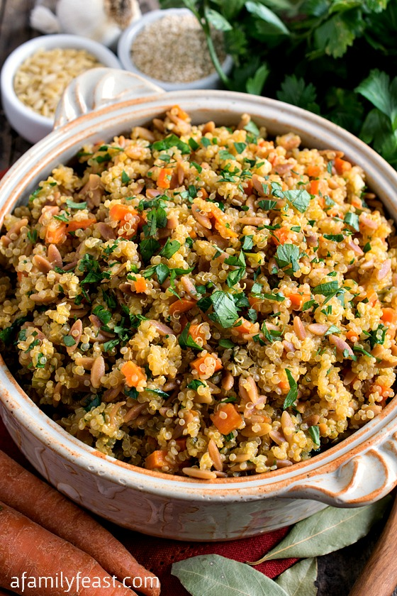Quinoa Pilaf - A healthy, delicious and super easy side dish!