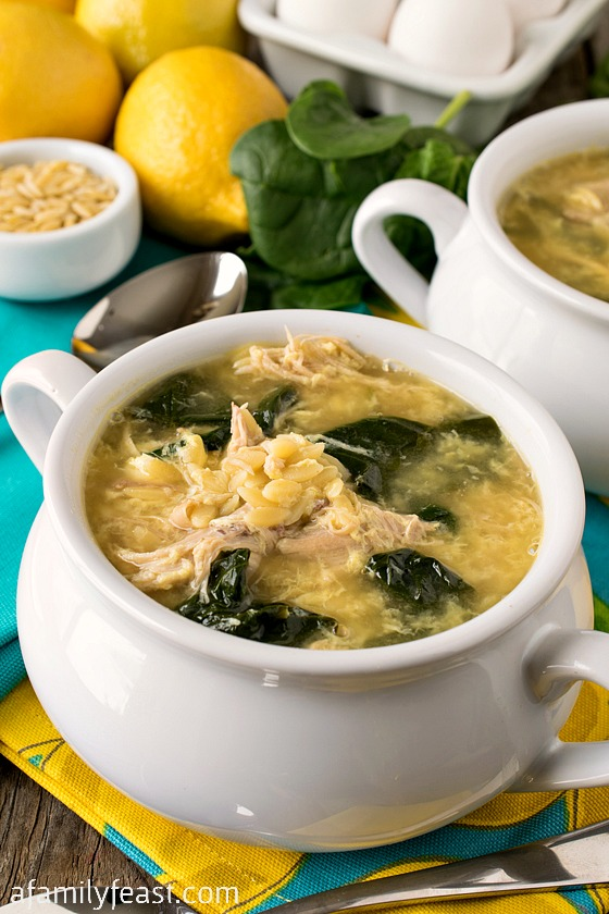 ... and comforting foods like this Greek Lemon Chicken Soup with Orzo