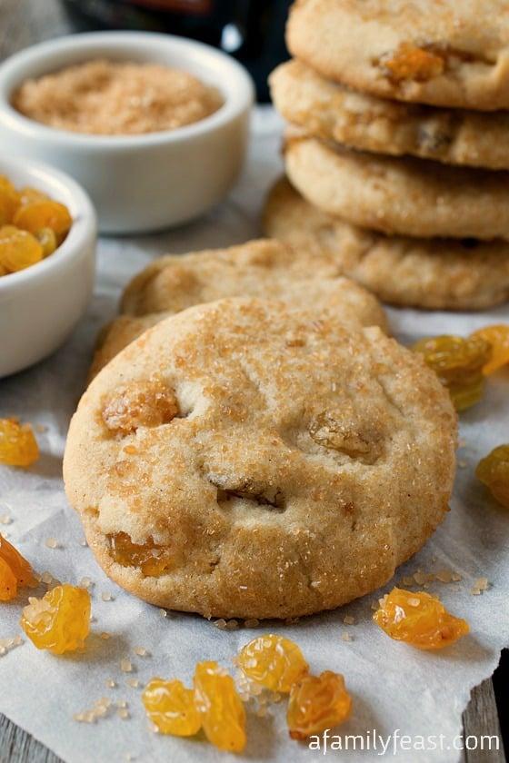 Nanny's Rum Raisin Sugar Cookies - A Family Feast