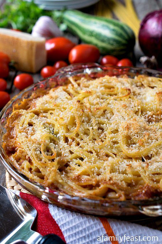 Summer Squash Spaghetti Ricotta Pie - Wonderful summertime comfort ...