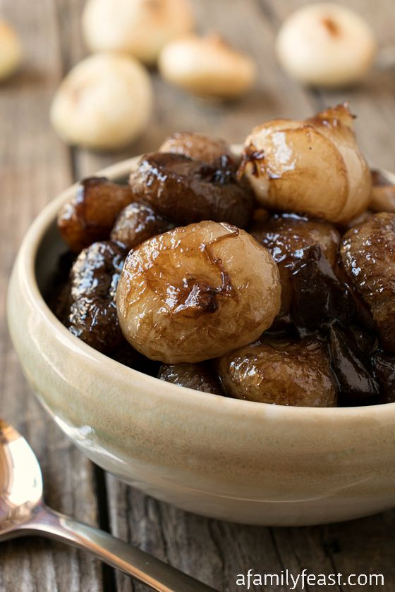 ... these Sweet and Sour Balsamic Glazed Onions – really steal the show